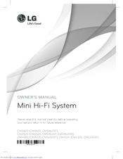 LG CMS4520W Owner's Manual