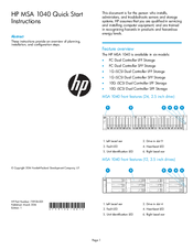 HP 1040 Quick Start Instructions