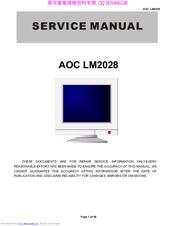 aoc lm2028 manuals rh manualslib com Word Manual Guide User Guide Template