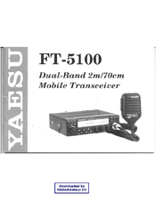yaesu ft 5100 manuals rh manualslib com Yaesu Tracking Boxes Yaesu FT 5100 Dual Band