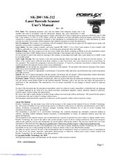 Posiflex SK-200 Manuals