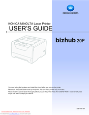Konica Minolta bizhub 20P User Manual