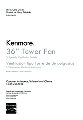 Kenmore 405.34036310 Use & Care Manual