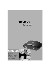 Siemens Gigaset Optical LAN Adapter Duo Owner's Manual