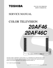 toshiba 20af46 service manual pdf download rh manualslib com Toshiba Laptop Service Manual Toshiba Laptop Service Manual