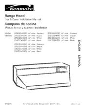 kenmore 233 52345590 manuals rh manualslib com vesta range hood manual range hood specs