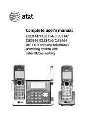 at t cl83464 manuals rh manualslib com att phone manual cl82301 att phone manual cl82313