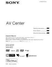 Sony    XAV   62BT Manuals