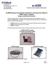 Trimark keyless entry manual
