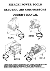 Hitachi EC 16 Owner's Manual