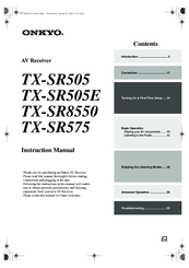 onkyo tx sr575 manuals rh manualslib com onkyo tx-sr575 specs Onkyo TX- 8050