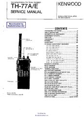 KENWOOD TH-77A SERVICE MANUAL Pdf Download