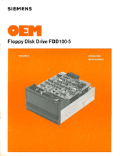Siemens Microfloppy FDD100-5 Operating And Maintenance Manual