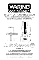 Waring commercial food processor instructions. Waring commercial.