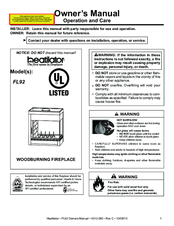 Heatilator Wood Burning Fireplace ST36D Manuals
