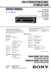 sony cdx gt20w service manual pdf download rh manualslib com  sony cdx-gt200 wiring diagram pdf