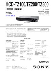 Sony dav-dz280, dav-dz290k, dav-dz295k, dav-dz390k, dav-dz590k.