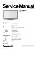 panasonic th 42pz85u service manual