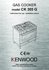 Kenwood CK 305 G Instructions For Use - Installation Advice