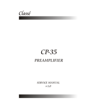 classe audio cp 35 manuals rh manualslib com Operators Manual Service Manuals