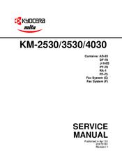 kyocera mita km 2530 3530 4030 service manual repair guide
