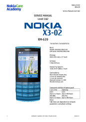 nokia x3 02 manuals rh manualslib com Nokia X2 nokia x3-02 service manual download