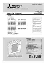 Mitsubishi Electric PUHZ-RP60VHA3 Service Manual