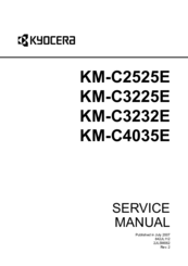 kyocera km c2525e km c3225e km c3232e km c4035e service repair manual parts list