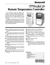 honeywell t775 manual online user manual u2022 rh pandadigital co Honeywell Security Manuals All Honeywell Thermostats