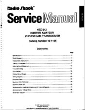 radio shack service manuals