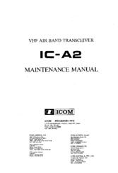 ICOM IC-A2 MAINTENANCE MANUAL Pdf Download
