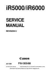 Canon ir5000 ir6000 service manual download manuals & technical.