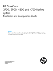 HP StoreOnce4500 Installation And Configuration Manual