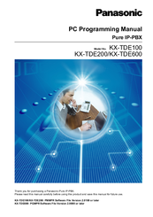 Panasonic KX-TDE200 Pc Programming Manual
