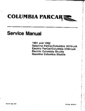 columbia parcar electric columbia utilitruck manuals rh manualslib com 1987 columbia par car service manual 1990 par car service manual