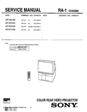 Sony KP-46V35 Service Manual