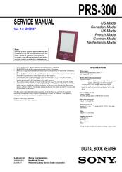 sony prs 300 user s guide manuals rh manualslib com Reset Sony Reader PRS-300 Sony Digital Book Reader PRS- 600