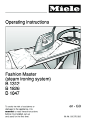Miele B 2826 Operating Instructions Manual
