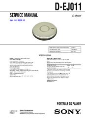 sony cd walkman d ej011 manuals rh manualslib com Sony Discman Sony Walkman 2015