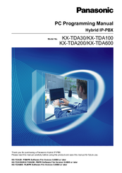 panasonic hybrid ip pbx kx tda100 manuals rh manualslib com panasonic kx-tda100 installation manual panasonic kx-tda100 installation manual