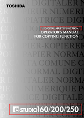 TOSHIBA E-STUDIO 160 OPERATOR'S MANUAL FOR COPYING FUNCTIONS