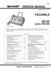 sharp ux 44 manuals rh manualslib com Sharp Fax Machines Product Sharp Fax Toner