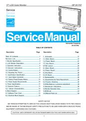 Hp w1707 monitor manual.
