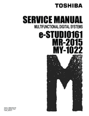 toshiba e studio 161 multifunctional digital systems service repair manual