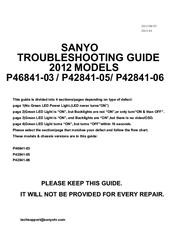 SANYO P46841-03 SERVICE MANUAL Pdf Download