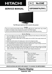 hitachi color plasma television 42pd9800ta manuals rh manualslib com Example User Guide Online User Guide
