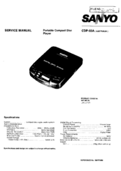 Sanyo CDP-55A Service Manual