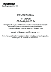 Toshiba 40L5441DG User Manual