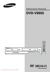 samsung dvd v9650 manuals rh manualslib com Samsung Tablet Ce0168 Instruction Manual Samsung Tablet Ce0168 Instruction Manual