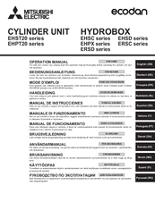 Mitsubishi Electric ecodan EHST20D-VM2C Operation Manual